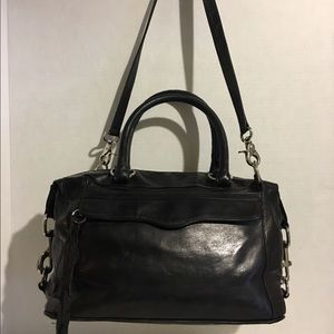 Rebecca Minkoff Black leather convertible satchel